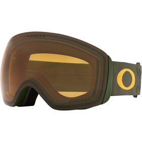 Oakley Flight Deck XL Schneebrille prizm icon dark brush mustar/prizm snow persimmon
